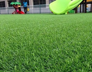 synturfmats premium green artificial grass rug u2013 decorative synthetic turf runner rugs carpet with drainage holes 45 inch blade