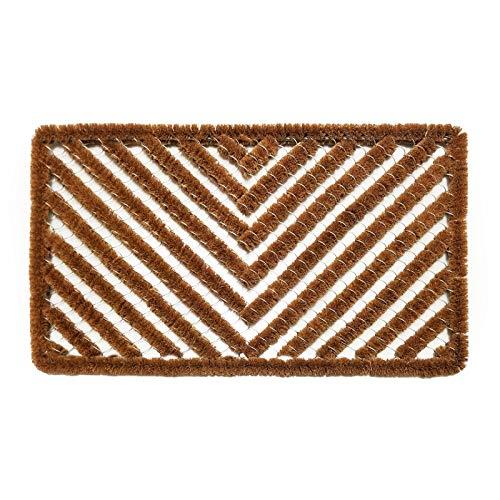 Casa Pura Natural Coir Doormat All Weather Wire Door Mat Boot Scraper Brush Outdoor 18 X30